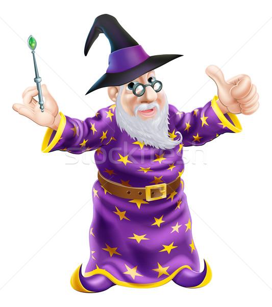 Cartoon Wizard Stock photo © Krisdog