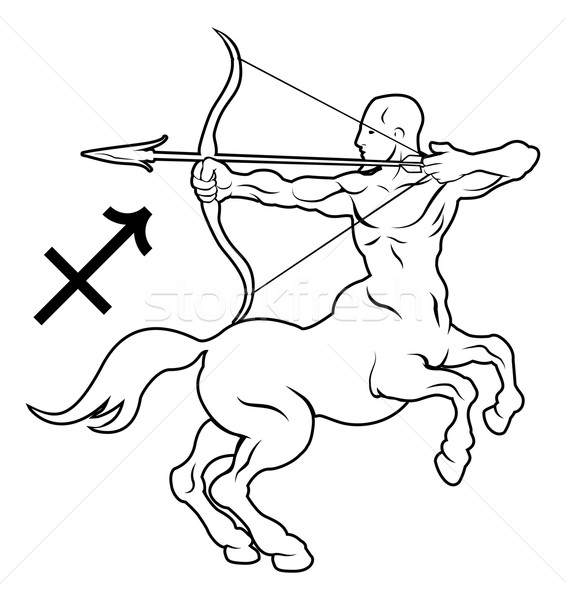 Sagittarius zodiac horoscope astrology sign Stock photo © Krisdog