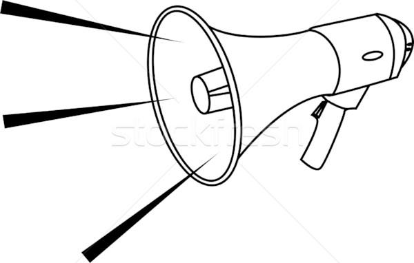 megaphone Illustration Stock photo © Krisdog