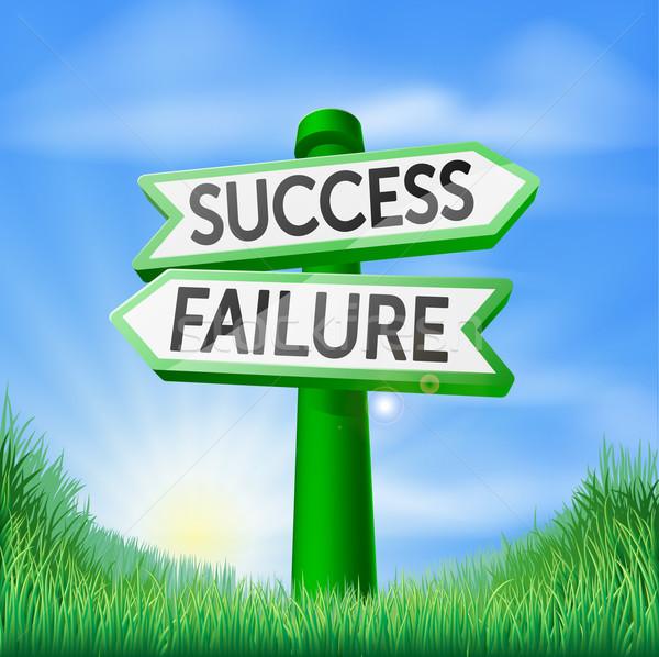 Success or failure decision sign Stock photo © Krisdog