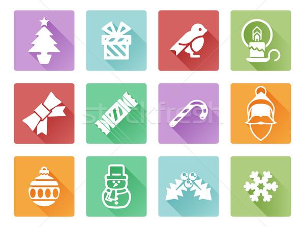 Christmas icons Stock photo © Krisdog