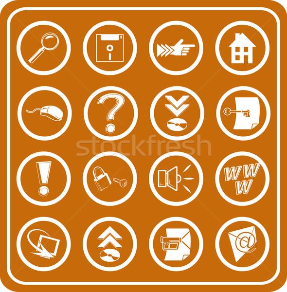 Háló számítástechnika ikonok üzlet internet terv Stock fotó © Krisdog