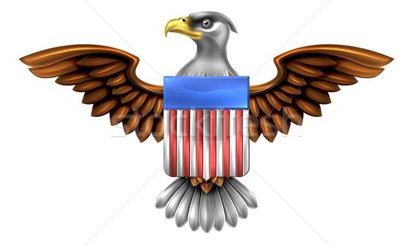American Eagle Shield Stock photo © Krisdog