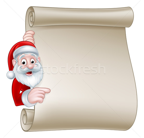 Santa Christmas Scroll Sign Stock photo © Krisdog