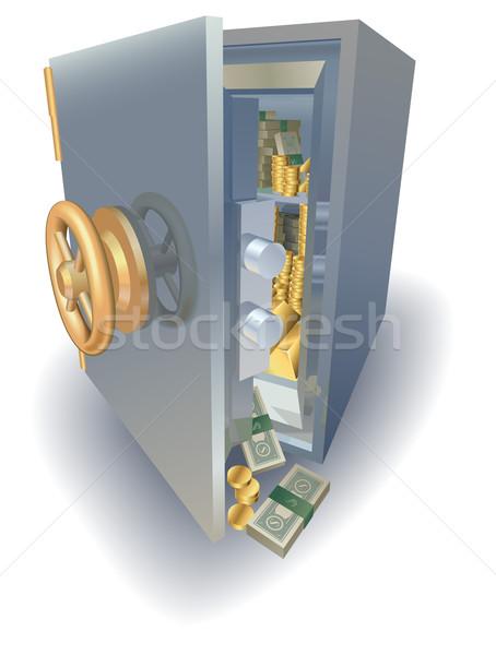 полный безопасной золото деньги двери металл Сток-фото © Krisdog