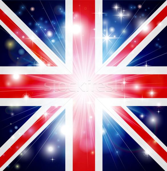 Union jack vlag Verenigd Koninkrijk licht exemplaar ruimte Stockfoto © Krisdog