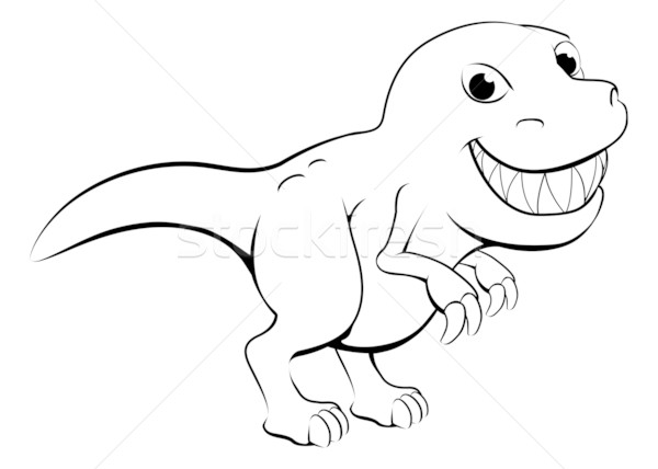 Happy cartoon dinosaur Stock photo © Krisdog
