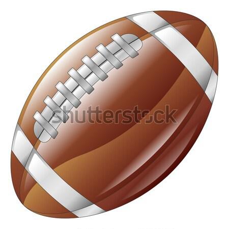 Fényes fényes amerikai futball labda ikon Stock fotó © Krisdog