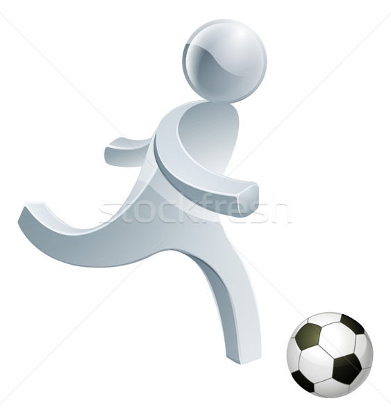 Soccer football person mascot Stock photo © Krisdog