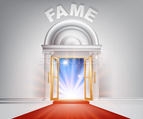 слава красный ковер двери фантастический белый мрамор Сток-фото © Krisdog