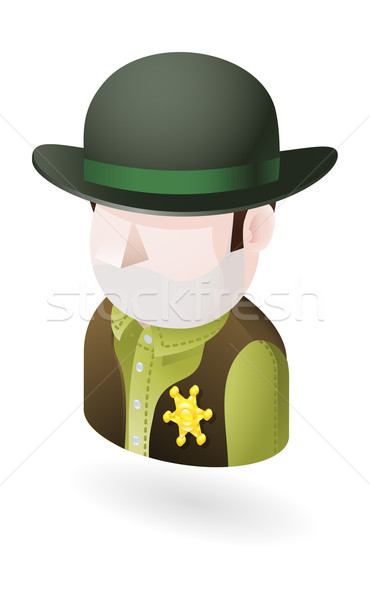 sheriff illustration Stock photo © Krisdog
