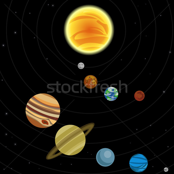 Illustration of solar system Stock photo © Krisdog