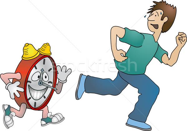 running against the clock  Stock photo © Krisdog