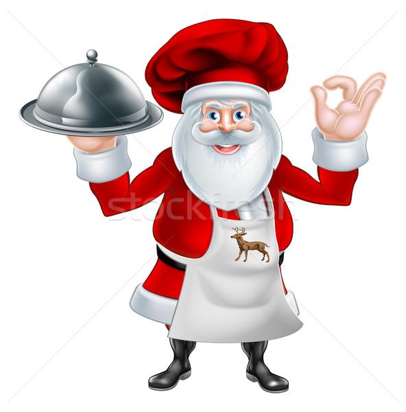 Chef Navidad cena ilustración Cartoon Foto stock © Krisdog