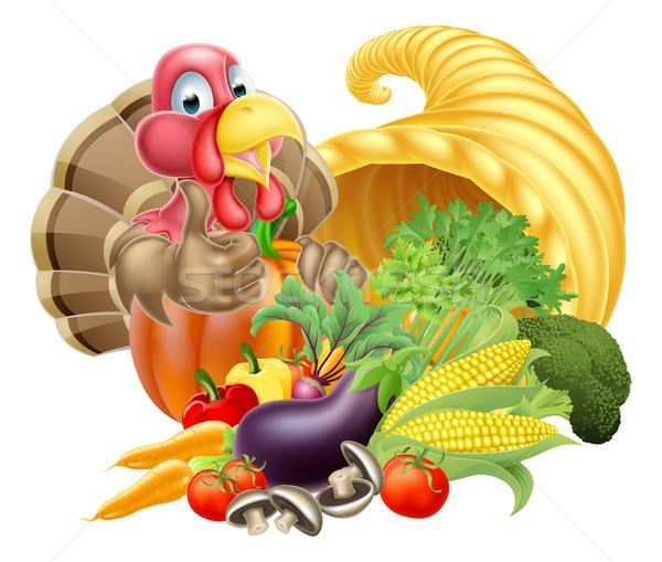 Turquía cuerno de la abundancia acción de gracias dorado cuerno Foto stock © Krisdog