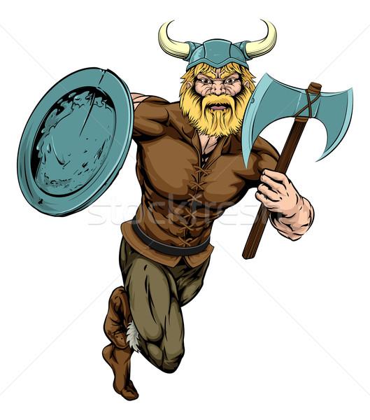 Viking Axe Warrior Stock photo © Krisdog