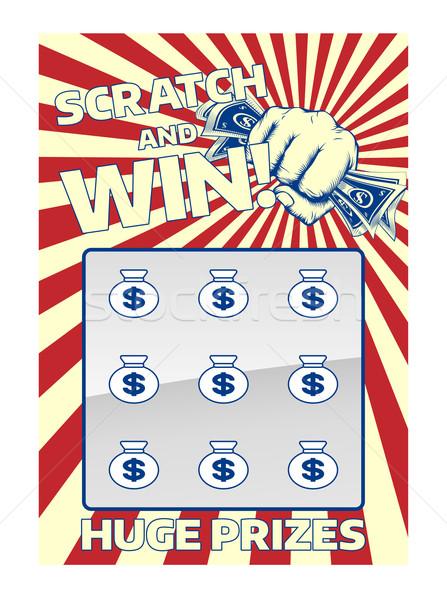 スクラッチ カード 宝くじ インスタント 勝利 ストックフォト © Krisdog
