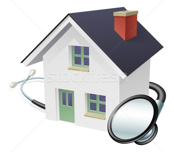 House and Stethoscope Concept Stock photo © Krisdog