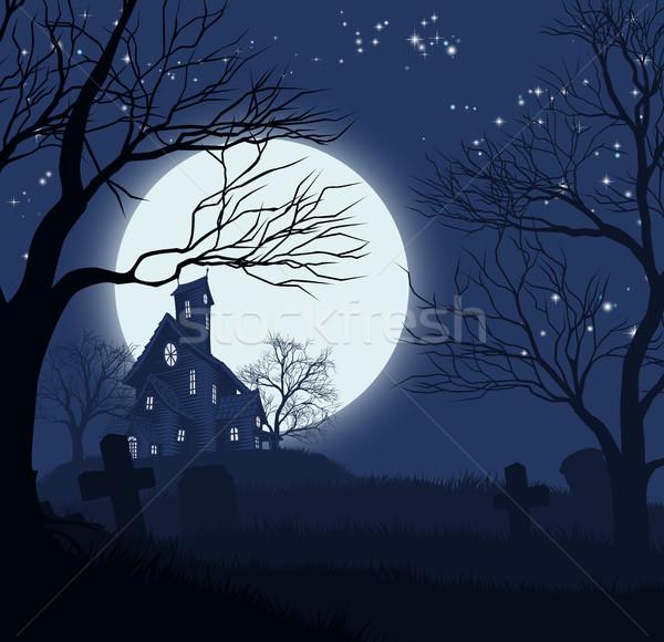 Halloween House Background Stock photo © Krisdog