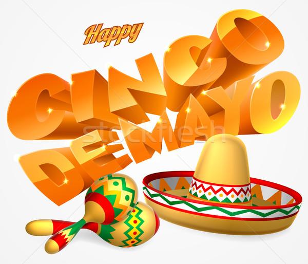 Cinco De Mayo Sign Stock photo © Krisdog