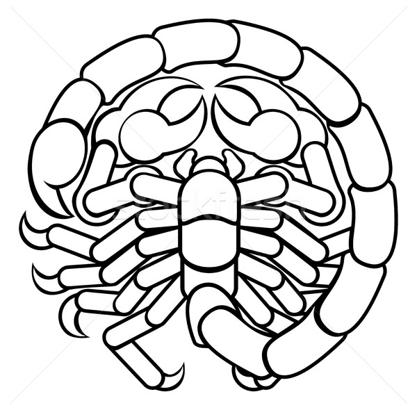Scorpio Scorpion Astrology Horoscope Zodiac Sign Stock photo © Krisdog
