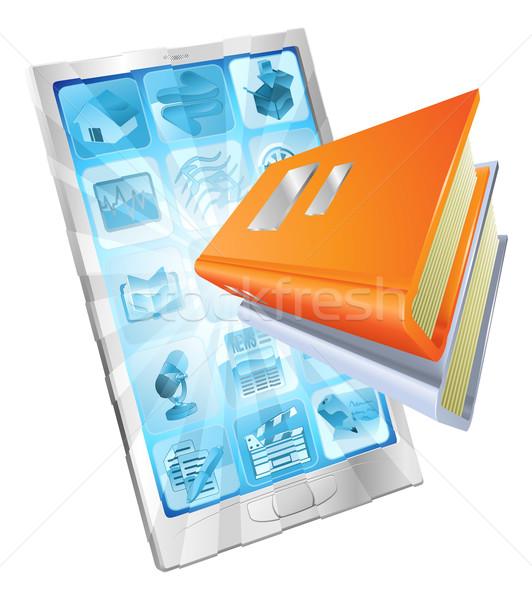 Livro aplicativo telefone ícone fora tela Foto stock © Krisdog