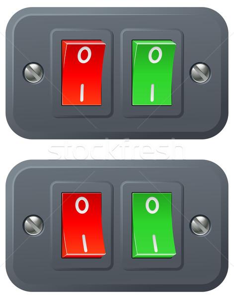 赤 緑 実例 オフ ポジション 芸術 ストックフォト © Krisdog
