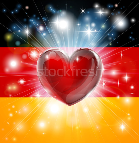 Love Germany flag heart background Stock photo © Krisdog