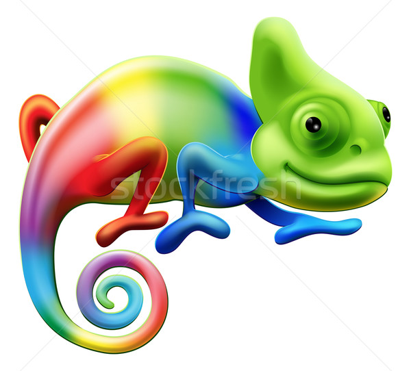 Rainbow chameleon Stock photo © Krisdog