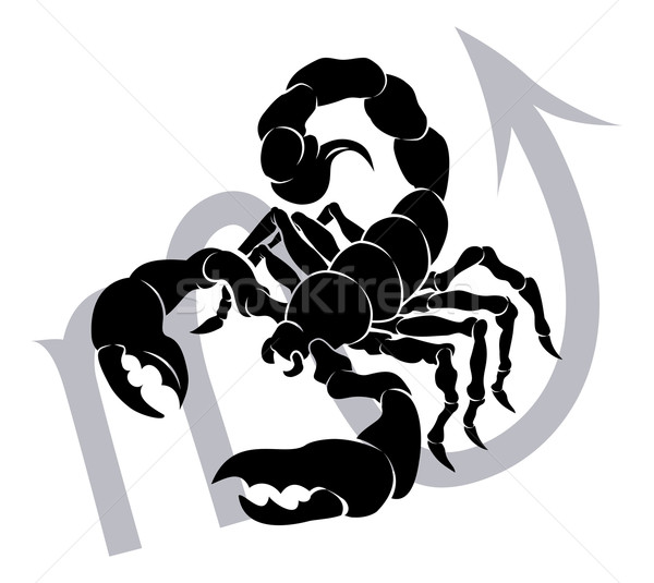 Zodiac horoscope astrologie signe illustration scorpion Photo stock © Krisdog