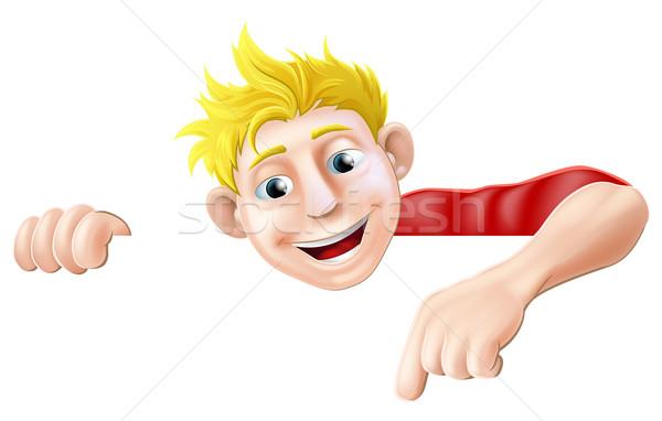 Cartoon Man Pointing Stock photo © Krisdog