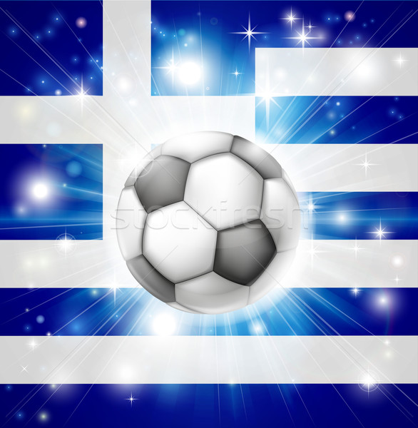 Greek soccer flag Stock photo © Krisdog