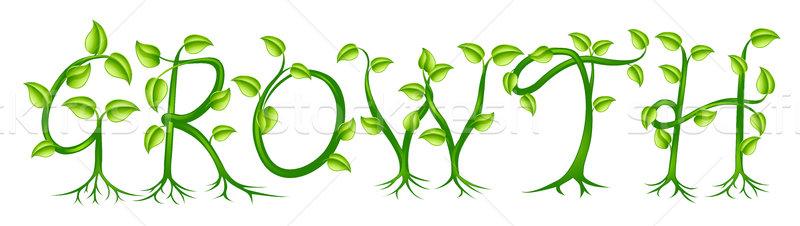 роста завода типографики из деревья растений Сток-фото © Krisdog