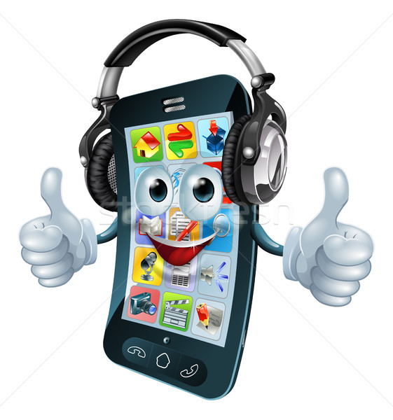 Music headphones phone Stock photo © Krisdog