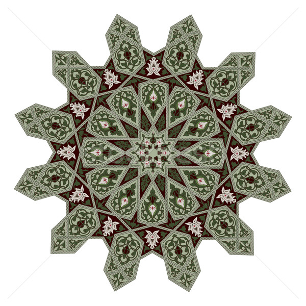 Middle eastern floral pattern motif Stock photo © Krisdog