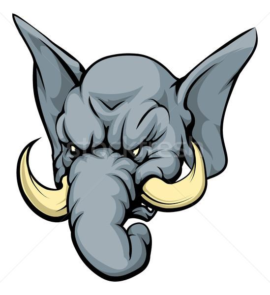 Imagine de stoc: Elefant · mascota · ilustrare · animal