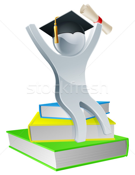 Graduation person on books Stock photo © Krisdog
