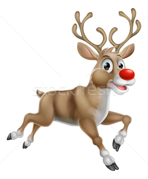 Christmas Cartoon Reindeer Stock photo © Krisdog