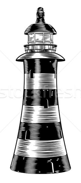 Vintage style lighthouse Stock photo © Krisdog