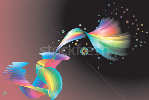 Abstract rainbow background  Stock photo © Krisdog