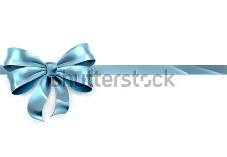 Blue Bow Gift Background Stock photo © Krisdog