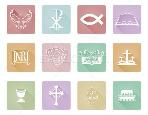 Christian Icon Series Set Stock photo © Krisdog