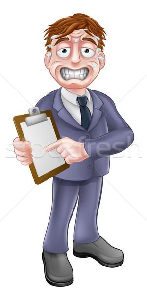 Stressed Business Man with Clipboard Stock photo © Krisdog