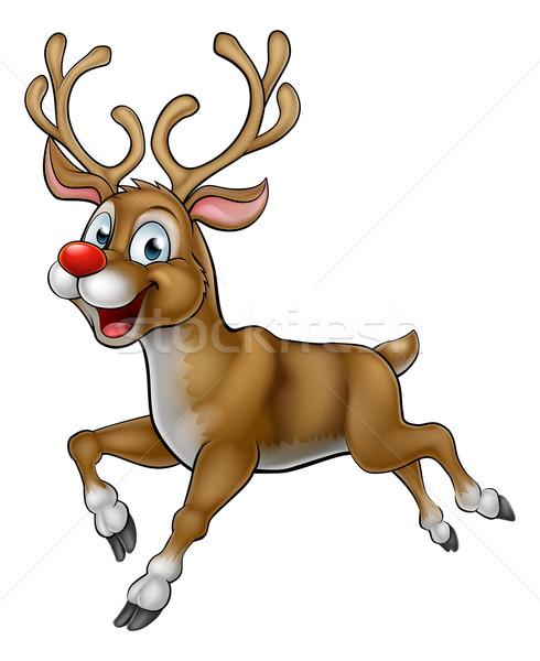 Stock photo: Cartoon Reindeer Christmas Character