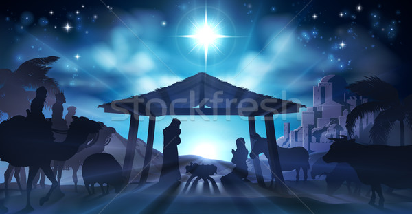 Nativity Scene Christmas Stock photo © Krisdog