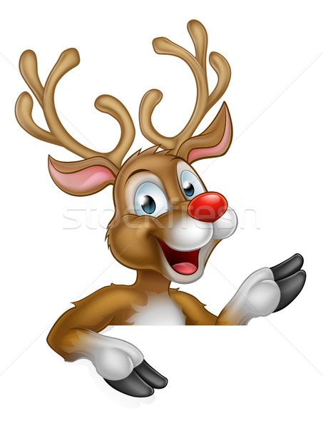 Cartoon Christmas Reindeer Character Stock photo © Krisdog