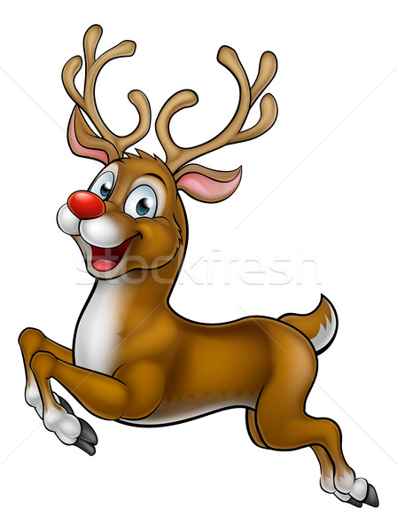 Reindeer Christmas Cartoon Character Stock photo © Krisdog