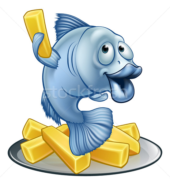 Poissons puces cartoon mascotte personnage art Photo stock © Krisdog