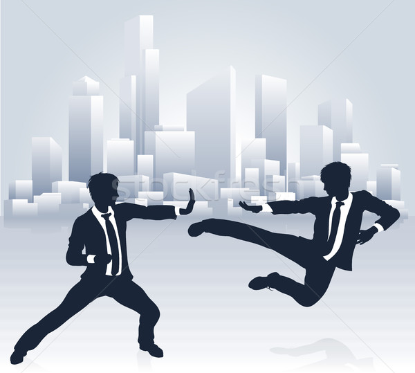 Business People Kung Fu Fighting Stock photo © Krisdog