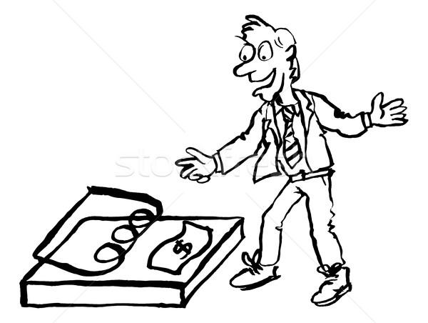 бизнесмен деньги ловушка Гранж рисованной стиль Сток-фото © Krisdog